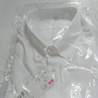 UNIQLO - ドライイージーケア オックスフォード スリムフィットシャツ 半袖