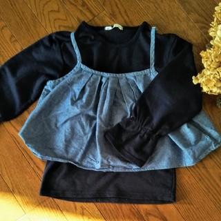 イッカ(ikka)の紺色長袖カットソー 120(Tシャツ/カットソー)