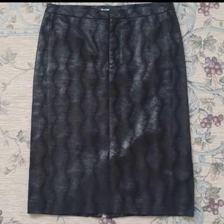 MAGINAL GLAMOR  革スカート(ひざ丈スカート)