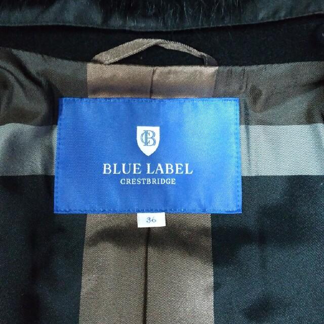 BURBERRY BLUE LABEL(バーバリーブルーレーベル)のブルーレーベル クレストブリッジ ダブルブレスト メルトンコート レディースのジャケット/アウター(ピーコート)の商品写真