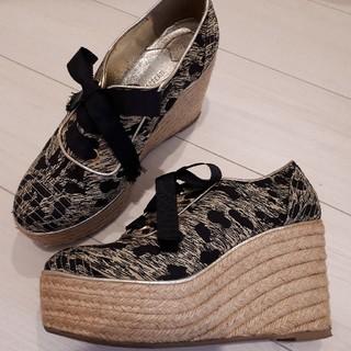 ソニアリキエル(SONIA RYKIEL)のソニアリキエル エスパドリーユ スニーカー 靴 黒 24cm   (スニーカー)