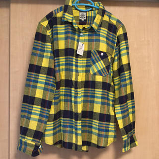 ラフ(rough)のrough ネルシャツ イエロー Lサイズ(シャツ/ブラウス(長袖/七分))