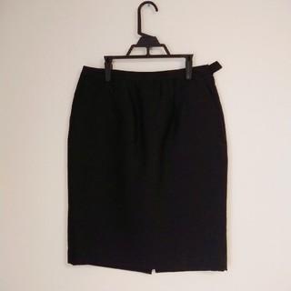 ステュディオス(STUDIOUS)のAKIRA NAKA タイトスカート ブラックスカート 黒 アキラナカ(ひざ丈スカート)