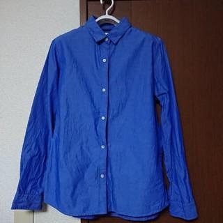 イッカ(ikka)のikka 長袖シャツL ブルー(シャツ/ブラウス(長袖/七分))