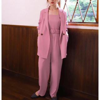 one after another NICE CLAUP - 新品 one after 〜 NICE CLAUP  Pink サロペット