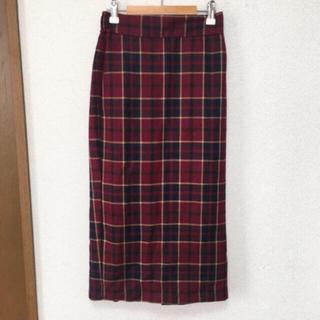 GU - 新品★未使用★GUチェックタイトスカート