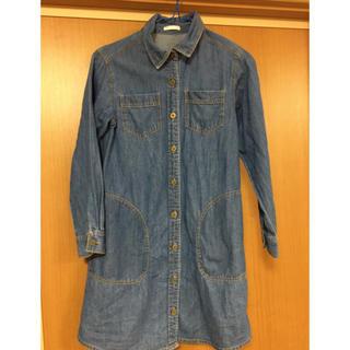 GU - デニム ワンピ  ロングシャツ  GU 140