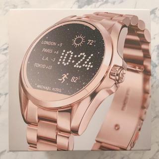 マイケルコース(Michael Kors)の【値下げ】マイケルコース LANWAY ピンクゴールド(腕時計(デジタル))