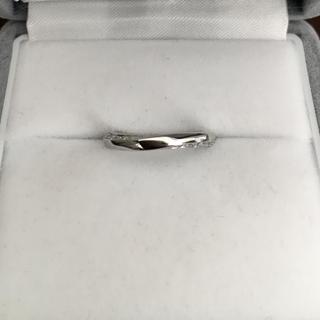 ヨンドシー(4℃)の4℃ アクニティコレクション ダイヤモンド リング Pt995 3.4g(リング(指輪))