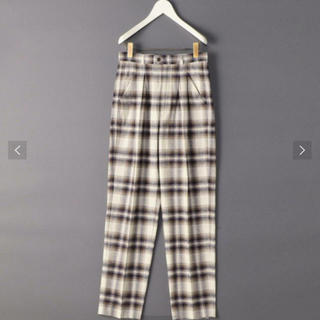 ビューティアンドユースユナイテッドアローズ(BEAUTY&YOUTH UNITED ARROWS)の【新品未使用タグ付き】ROKU 6 ロク チェックパンツ check pants(カジュアルパンツ)