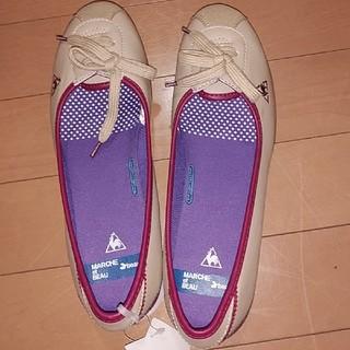 ルコックスポルティフ(le coq sportif)の★新品タグ付き★ルコックの可愛い靴★(スリッポン/モカシン)