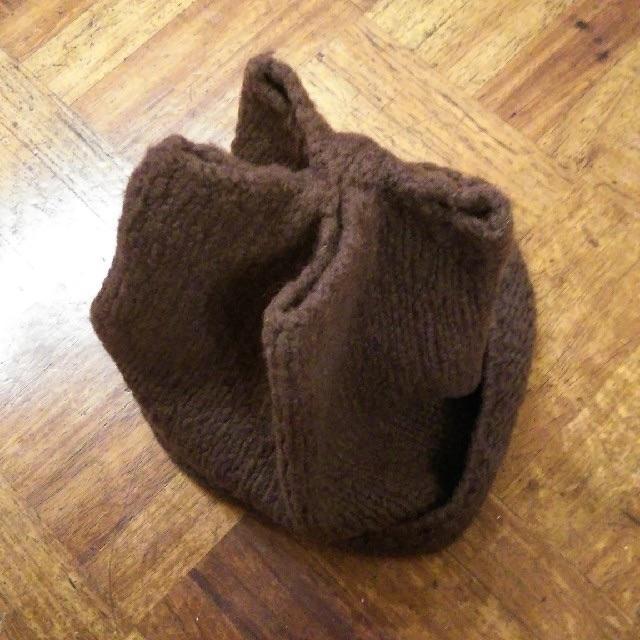 JOURNAL STANDARD(ジャーナルスタンダード)のマダーアッカ✨mader Acca 個性的かわいいデザイン ブラウン ニット帽 レディースの帽子(ニット帽/ビーニー)の商品写真