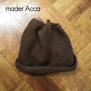 JOURNAL STANDARD - マダーアッカ✨mader Acca 個性的かわいいデザイン ブラウン ニット帽
