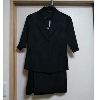 ザジ(ZAZIE)の黒スーツ 半袖(スーツ)