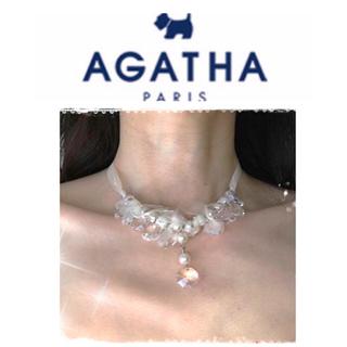 アガタ(AGATHA)の🇫🇷 アガタ 💎クリスタル ネックレス(パール 🎗チョーカー)(ネックレス)
