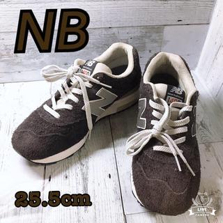 ニューバランス(New Balance)の【美品】 NB CM1400BN 左右非対称スニーカー 25.5cm  ネイビー(スニーカー)