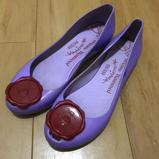 Vivienne Westwood - vivienne westwood melissa コラボパンプス 24cm 紫