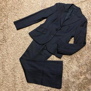 セオリー(theory)の値下げ交渉OK セオリー シングル パンツスーツ S〜M ストライプ 美品(スーツ)