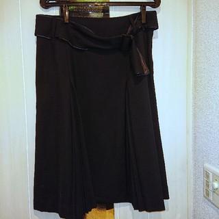 【新品】EASTBOY 黒プリーツスカート♪ベルト付