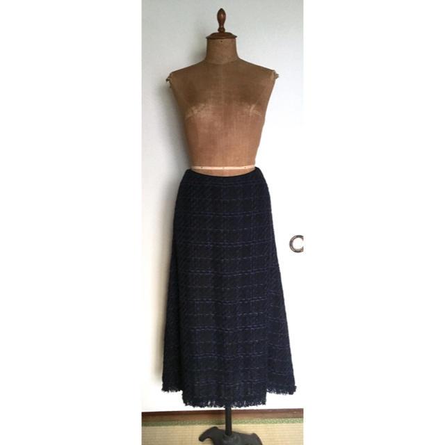 martinique Le Conte(マルティニークルコント)のマルティニークミックスツィートフレアスカート レディースのスカート(ロングスカート)の商品写真