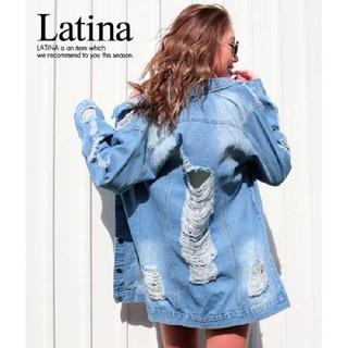 アナップラティーナ(ANAP Latina)のanap Latina ハイダメージ ビッグ デニム ジャケット F(Gジャン/デニムジャケット)