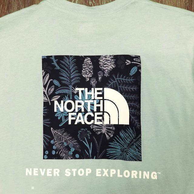 THE NORTH FACE(ザノースフェイス)の売切!ノースフェイス ボックスロゴ 半袖Tシャツ(L)緑 180902 メンズのトップス(Tシャツ/カットソー(半袖/袖なし))の商品写真