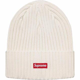 シュプリーム(Supreme)のSupreme 19SS Overdyed Beanie White(ニット帽/ビーニー)