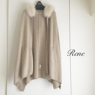 René - 【67%OFF】‼️新品♡♡Rene ルネ カシミヤ100% コート ポンチョ