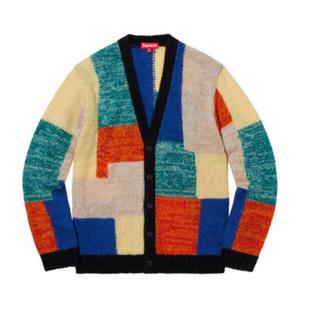 シュプリーム(Supreme)のsupreme 19ss patchwork mohair cardigan(カーディガン)
