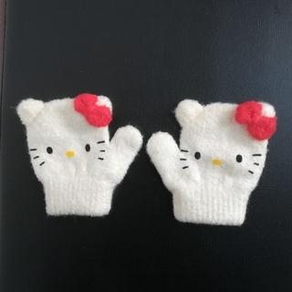 ハローキティ(ハローキティ)のベビー手袋 キティちゃん(手袋)