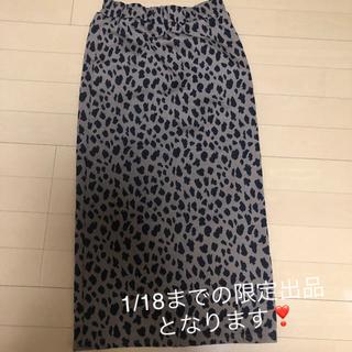 アナップ(ANAP)のANAP レオパードロングタイトスカート(ロングスカート)