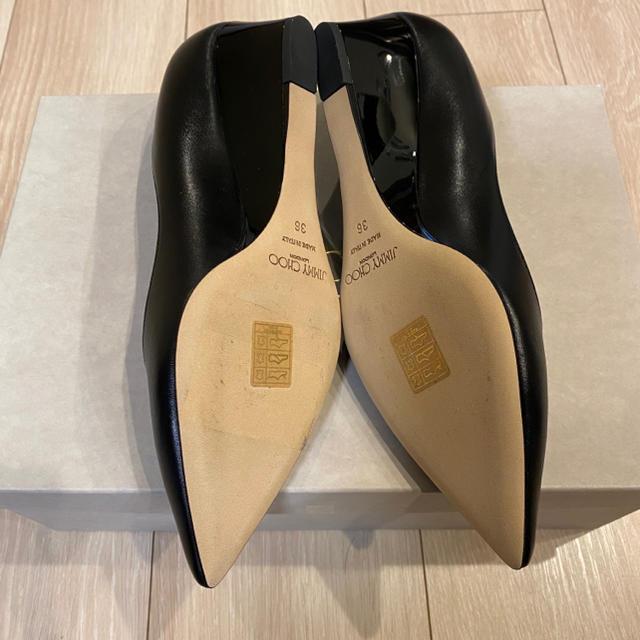 JIMMY CHOO(ジミーチュウ)の新品未使用 定価81,400円 ジミーチュウ TALOR 36 ブラック レディースの靴/シューズ(ハイヒール/パンプス)の商品写真