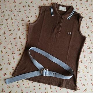 フレッドペリー(FRED PERRY)の美品☆FRED PERRY(フレッドペリー)☆ノースリポロシャツ&ベルト(ポロシャツ)