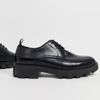 asos - asos チャンキーソールレースアップシューズ 革靴
