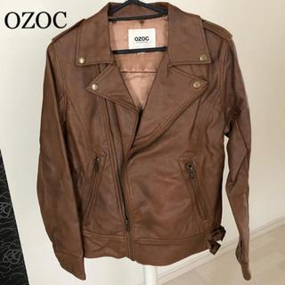 オゾック(OZOC)のOZOC ブラウン ライダースジャケット(ライダースジャケット)
