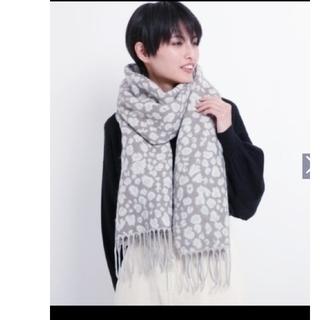 ikka - イッカ レオパード柄マフラーストール 新品タグつき