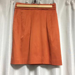 ロペ(ROPE)のロペ オレンジ スカート(ひざ丈スカート)