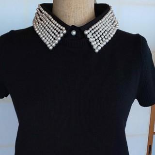 ディノス(dinos)のパール襟付きカットソー(カットソー(半袖/袖なし))