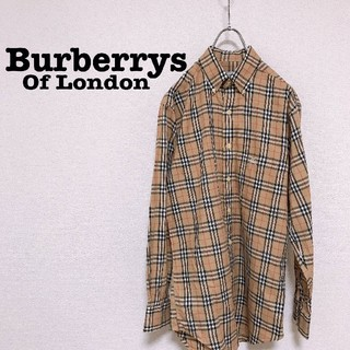 BURBERRY - 90s Burberrysノバチェック 長袖シャツ S