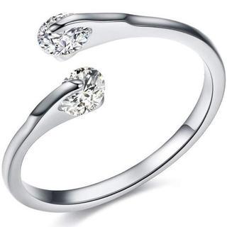 スワロフスキー(SWAROVSKI)の【SWAROVSKI】0.25カラット CZダイヤ スワロフスキーリング 指輪(リング(指輪))