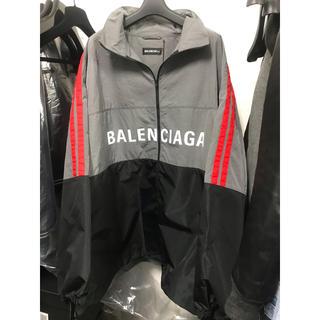 バレンシアガ(Balenciaga)のBALENCIAGA/バレンシアガ ポプリンシャツ トラックジャケット 新品(ナイロンジャケット)