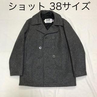 ショット(schott)のショットPコート チャコールグレー 38サイズ(M〜L相当?)(ピーコート)