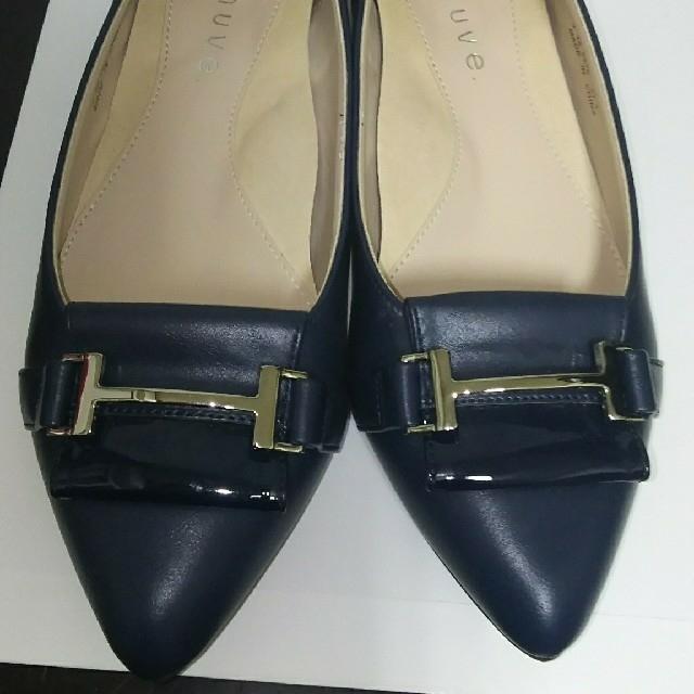 REGAL(リーガル)の★fauve リーガル ローヒールパンプス青(22.5) レディースの靴/シューズ(ハイヒール/パンプス)の商品写真