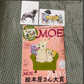 白泉社 - MOE (モエ) 2020年 02月号 応募ハガキ有 ヒグチユウコポストカード付