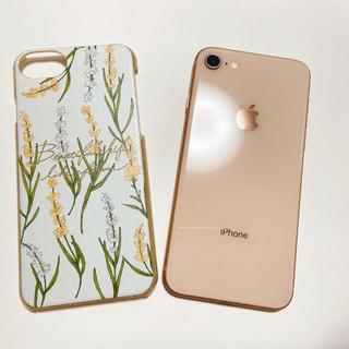 iPhone7 iPhone8 スマホケース スマホカバー 小花柄(iPhoneケース)