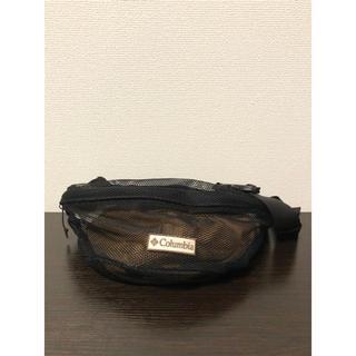 コロンビア(Columbia)の美品 コロンビア メッシュ バッグ ボディバッグ ショルダー ブラック 黒 (ボディーバッグ)
