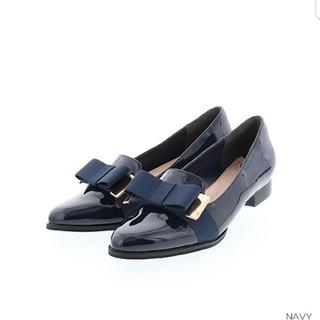 ランダ(RANDA)のリボンオペラシューズ、オペラシューズ、ローファー、パンプス、シューズ、RANDA(ローファー/革靴)