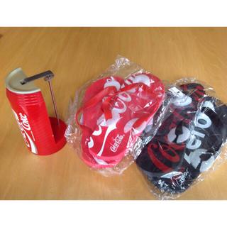 コカコーラ(コカ・コーラ)のコカ・コーラ伝票刺し & ビーチサンダル (非売品)(ノベルティグッズ)