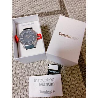 テンデンス(Tendence)のTendence ビックフェイス グレーラバー 腕時計(ラバーベルト)