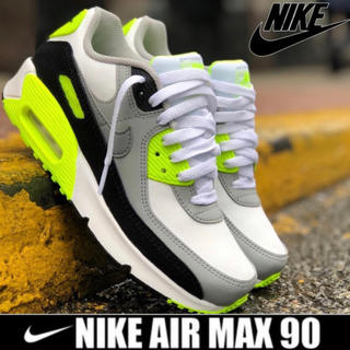 ナイキ(NIKE)のNIKE AIR MAX 90 LTR GS WHITE / VOLT 24cm(スニーカー)